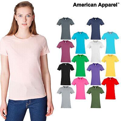 American Apparel Women/'s Fine Jersey Tee 2102 W