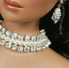 """Rhinestone Necklace and Earring Jewelry Set for 16"""" Tonner Tyler 053B"""
