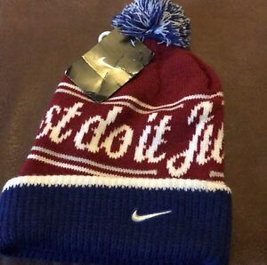 708cbbfc9 Details about Nike JDI (Just Do It) Pom Beanie Hat #632116-451