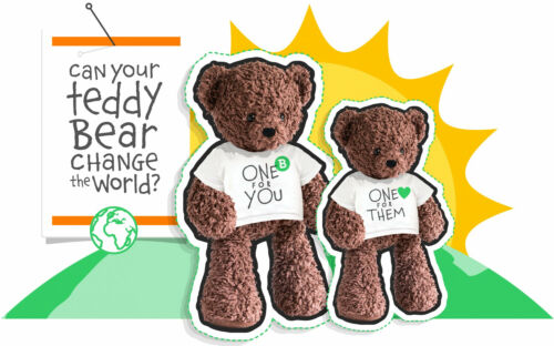Bears for Humanity Valentines Sherpa Bears Organic Cotton Plush with I Love You