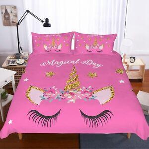Magical-Day-Unicorn-Kids-Bedding-Set-Duvet-Cover-Comforter-Cover-Pillow-Case