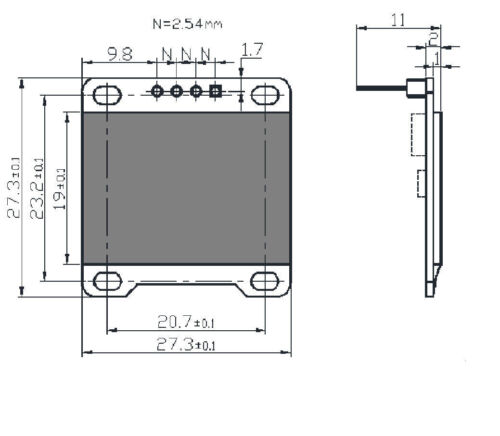 "3-5V 0.96 /""12C Serial 128X64 OLED LCD LED Anzeigemodul für Arduino White sam"