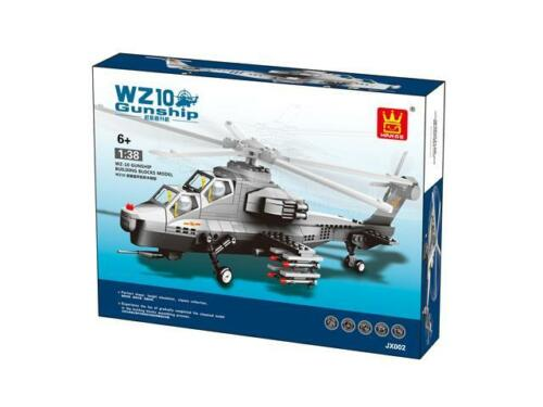 WZ-10 Fiery Thunderbolt Helicopter Gunship Building Blocks Bricks Wange