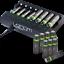 miniature 4 - Rechargeable Haute capacité AAA/AA Batteries Et 8-Way dock de chargement-Venom