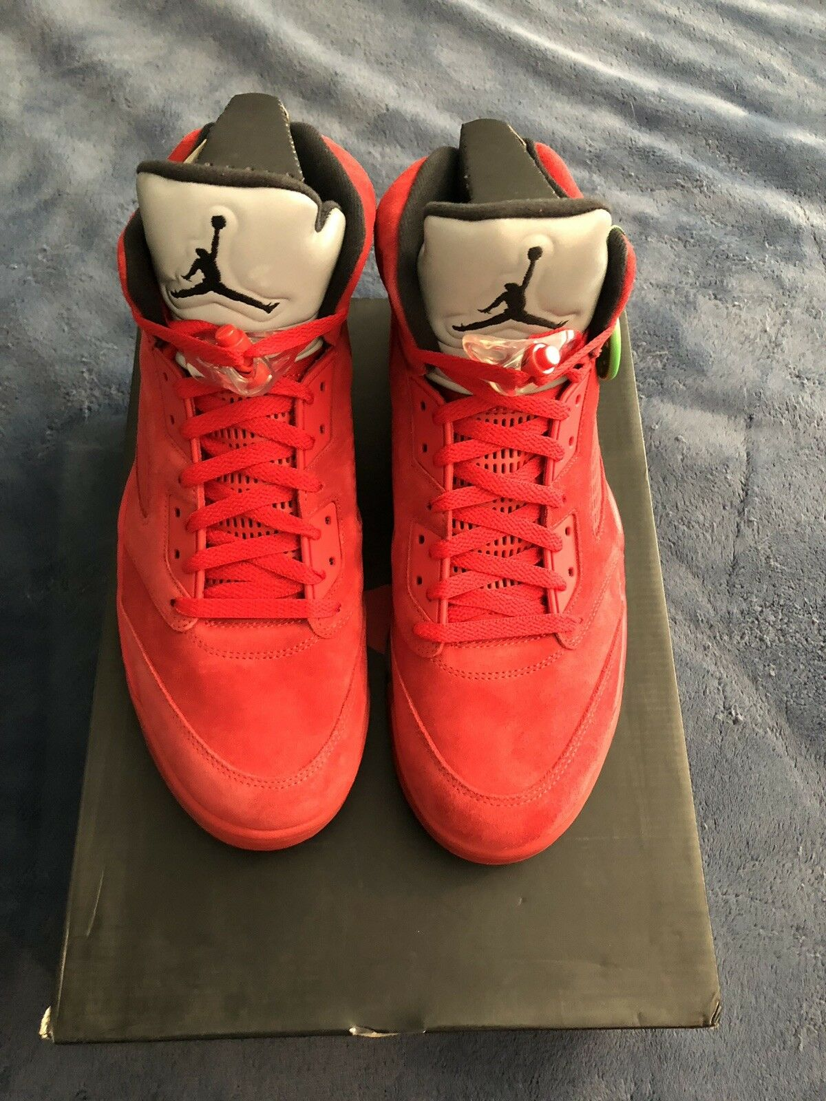 Air jordan 5 V suede rosso DS brand new new new sz 13 717be7