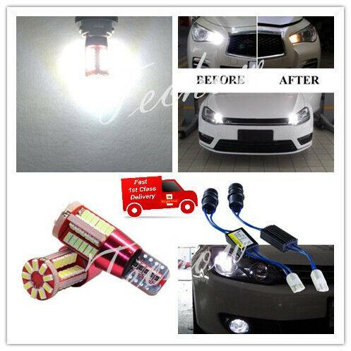 Resistors 501 W5W T10 Retrofit Side Light Bulbs  6000K 57SMD 2* CANBUS Free