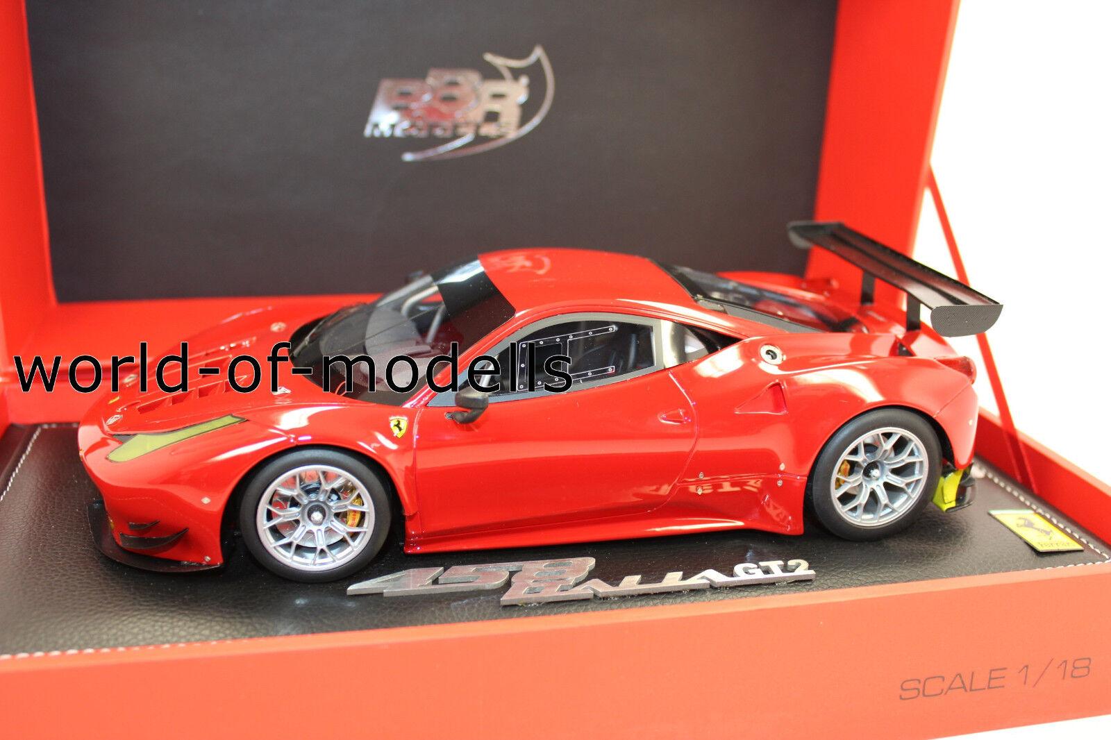 BBR P1874 Ferrari 458 GT 2 2013 Red no. 19 Von 40 Piece 1 18 NEW ORIGINAL