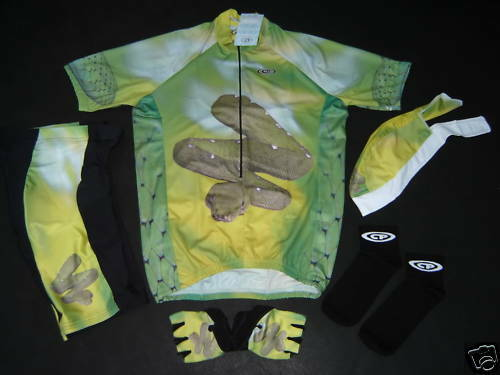 New  Grün SNAKE Wild Collection Cycling SET Jersey  New S 13c17c