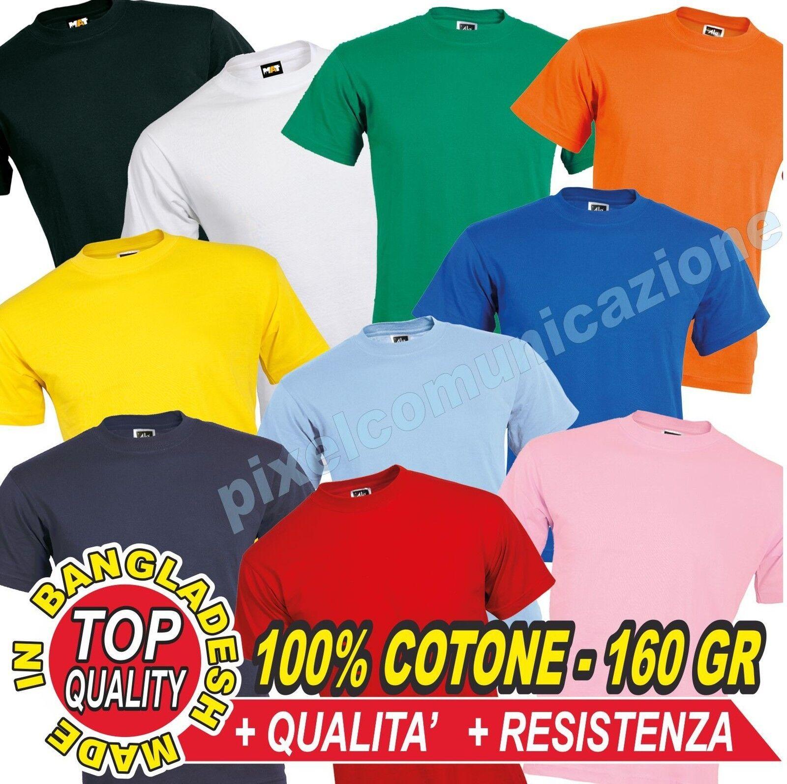 20 T SHIRT MAGLIETTE MANICHE CORTE OUTLET STOCK AFFARE 100% COTONE T-SHIRT 160GR