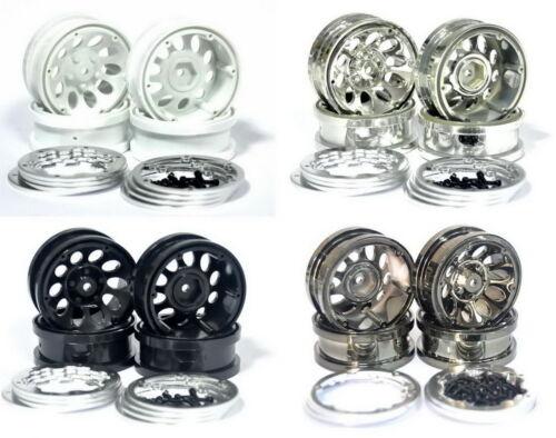"New 4pcs 1.9 /"" Beadlock wheels for axial scx10 //tamiya cc01,f350 //rc4wd TF2,D90"