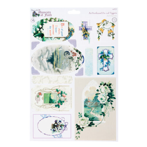 PEACE FOR CARDS AND CRAFTS A4 DIE-CUT TOPPERS PEARLESCENT MOMENT OF FAITH