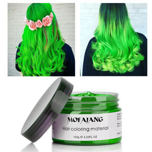120g Washable Temporary Hair Color Gel Wax Mud Hairstyle Easy Color ...