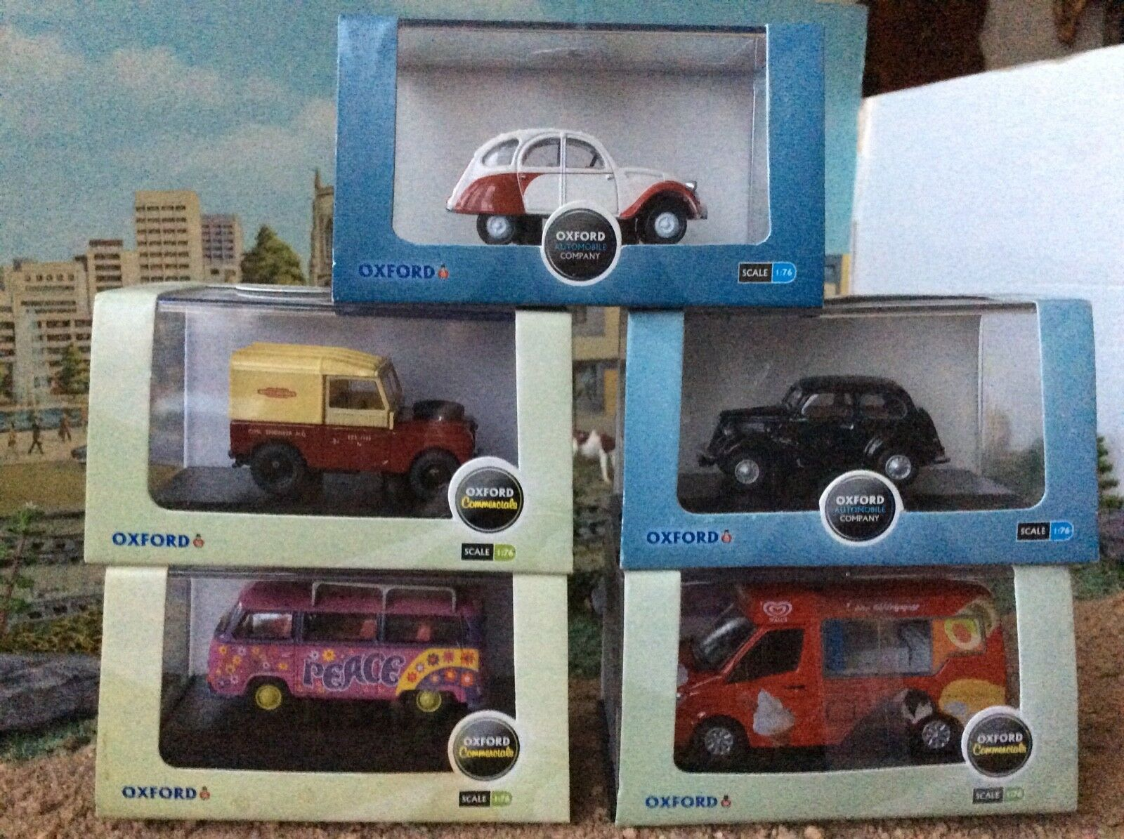 OXFORD  DIECAST  1 76   SCALE   COLLECTION  OF  FIVE  BOXED    MODELS