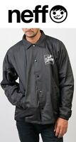 Neff Men's Battered Coaches Jacket, Black, Multiple Sizes Brand
