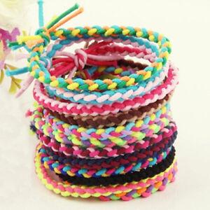 10X-Elastic-Braided-Hair-Tie-Band-Rope-Ponytail-Holders-Women-Hair-FD