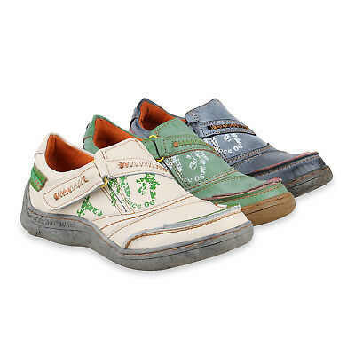 TMA Damen Slipper Leder Slip Ons Bequeme Vintage Freizeit 826056 Schuhe