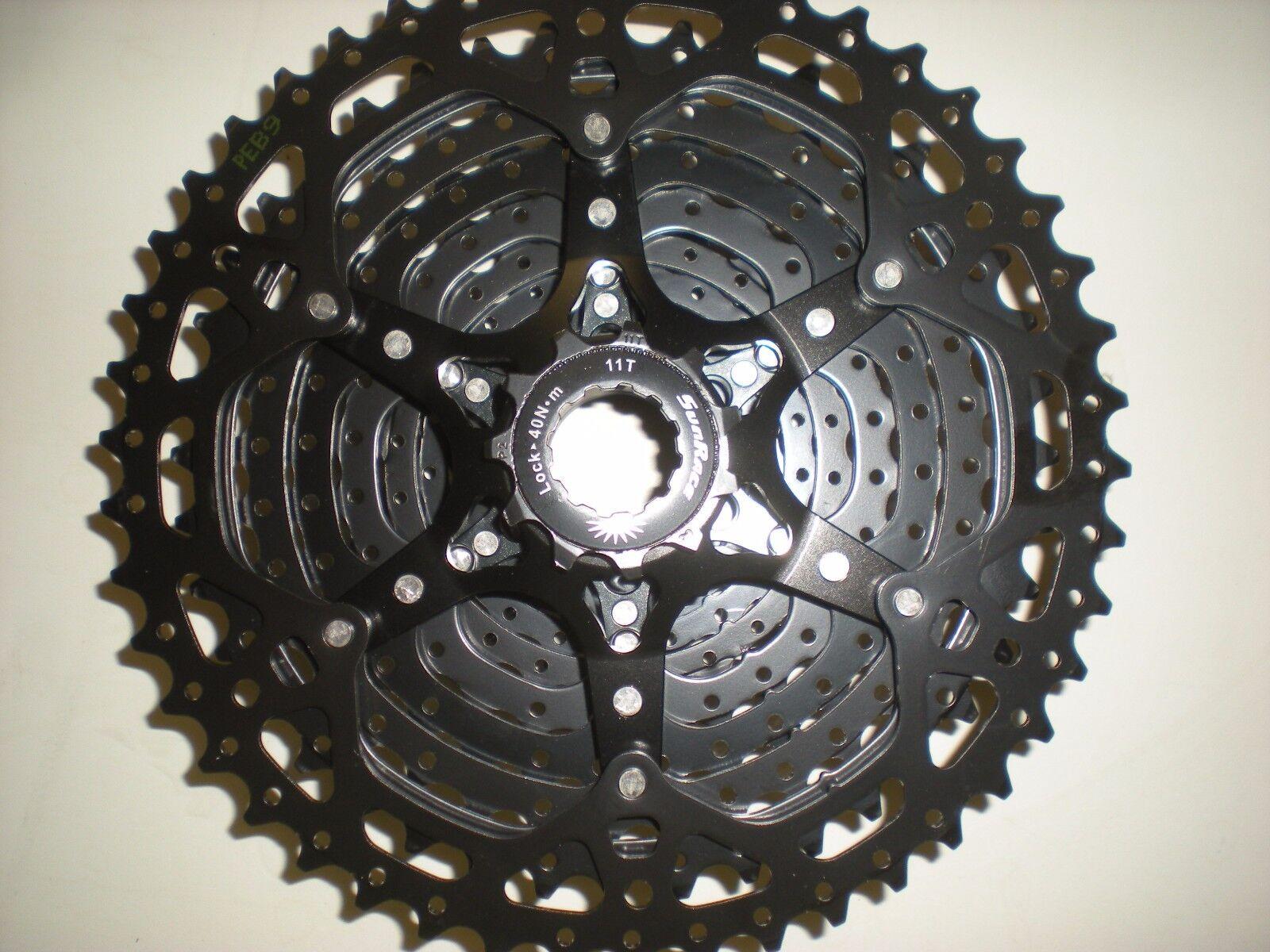 Sunrace MS8 de negro 11 velocidades amplia gama 11-46 diente Cassette Shimano/Sram negro de nuevo 4f2549
