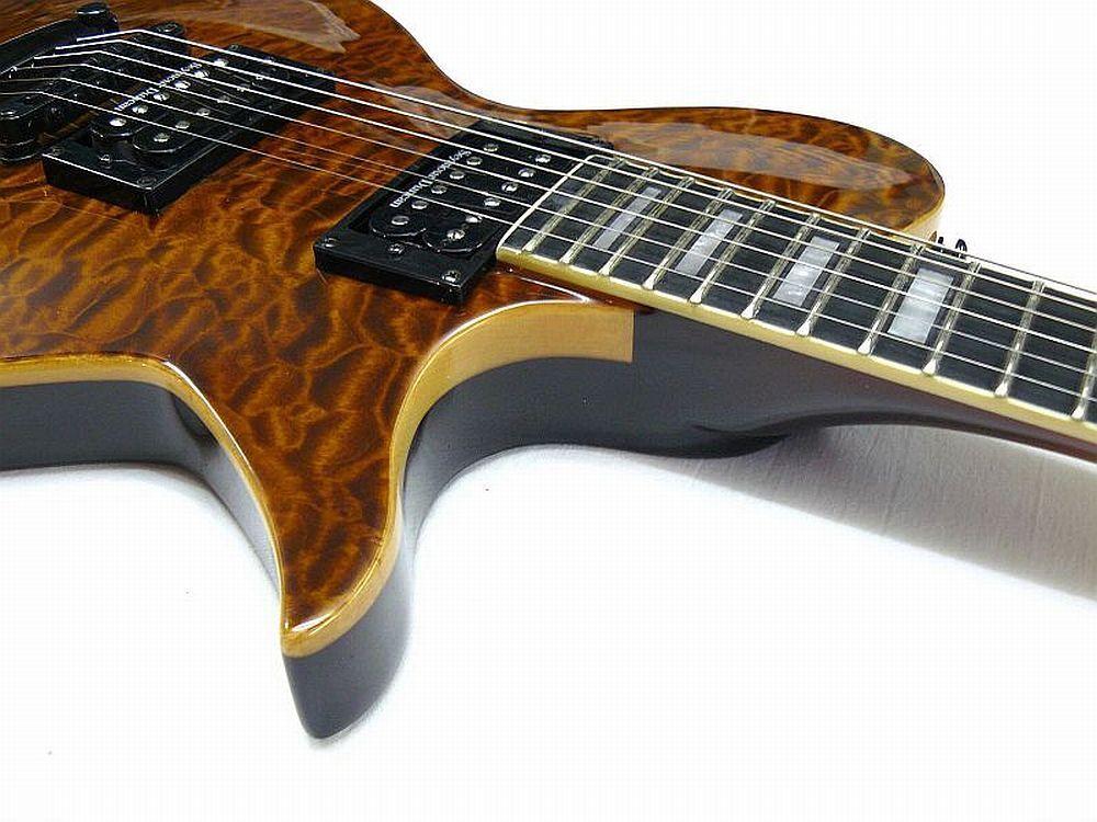 E-Gitarre SPEAR® Tomcat Golden Golden Golden Tiger AAAA Quilted Top 8fb243