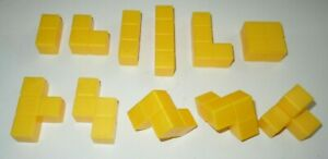 Blokus-3D-Yellow-Replacement-Parts-LOT-11-Board-Game-Piece-COMPLETE-Set