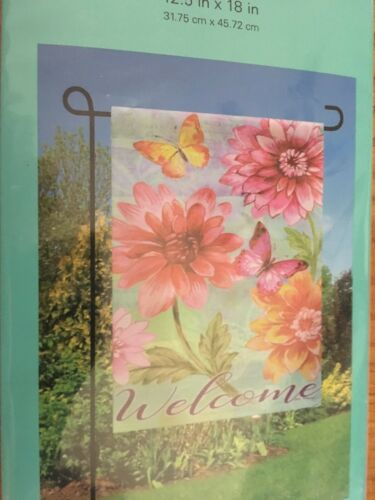 """Meadow Creek Decor Small Suede Garden Flag 12.5/""""x18"""" Different Styles"""