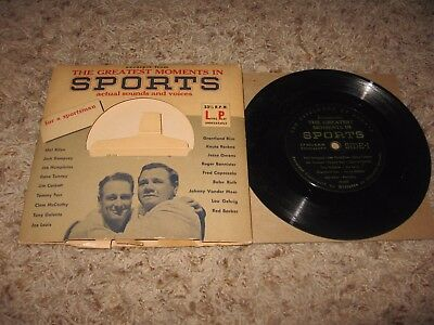 KöStlich Greatest Moment Columbia Records 33 1/3 Rpm Original Babe Ruth Jack Dempsey Fanartikel