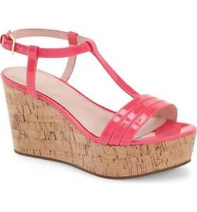 40847549121 Image is loading Kate-Spade-tallin-wedge-sandal-Lipstick-Pink-Patent-