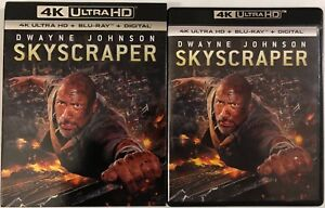 SKYSCRAPER-4K-ULTRA-HD-BLU-RAY-2-DISC-SET-SLIPCOVER-SLEEVE-DWYANE-JOHNSON