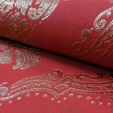 Arthouse Vintage lucetta Damascato Motivo Floreale Glitter Carta da parati in vinile rosso