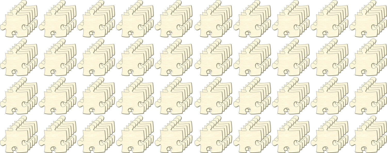 Blanko Puzzle unendlich Mini, Set 200 Teile, Puzzleteile aus Holz, Bemalen, Deko