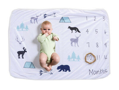 Monthly Baby Milestone Polar Fleece Blanket, <b>1-12</b> Months, <b>Boy</b> or <b>Girl</b>