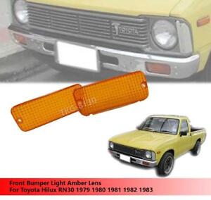 Front Bumper Light Amber Color Lens Use Toyota Hilux RN30 Pickup 1979-1983