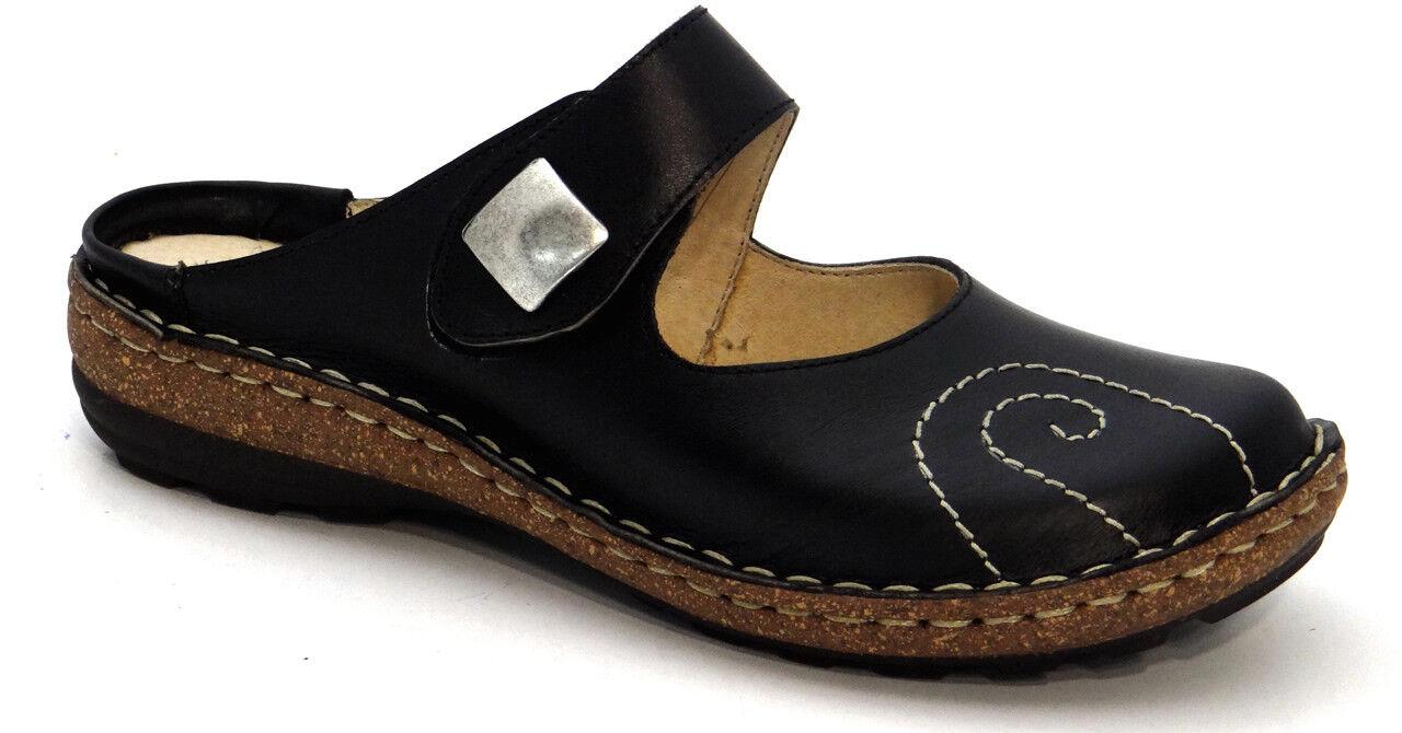 Ancho De Cuero Negro Negro Negro Zapatos Numana OGS Sandalias 3E anchura extra ancho (D)  punto de venta