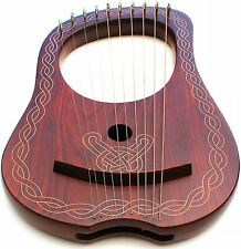 DEURA SDC Lyre Harp 10 Strings with Tuning Key + Carring Bag