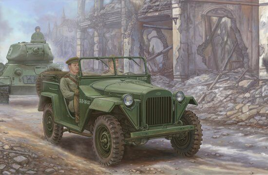 02346 Trumpeter 1 35 Scale Model Soviet GAZ-67B Military Vehicles Static Car Kit