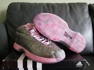 wholesale dealer 432af 8b387 Details about Adidas Crazy 1 Men s Shoe C76100 Florist John Wall Pink Rose  Silver NWT KOBE nmd