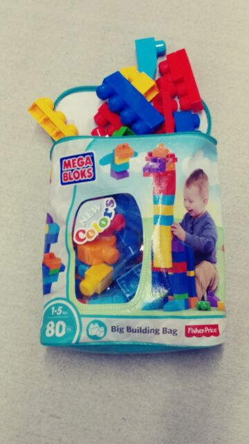 Mega Blocks up to 80 Pc Bag by Fisher Price 1st Builders Set Classic Toy DCH63