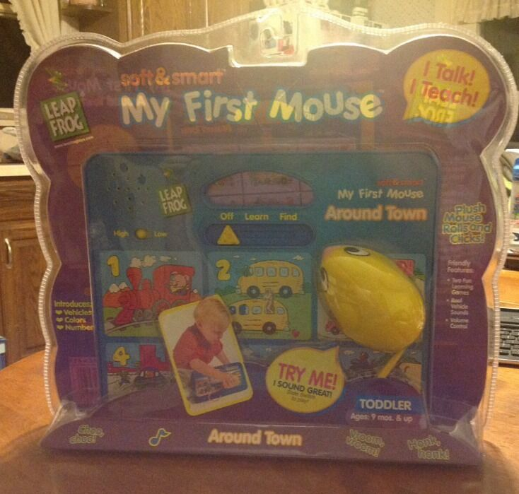 NIB NEW Leapfrog MY FIRST MOUSE Around Town bluee toddler 9 mo+ colors numbers