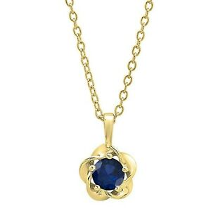 5mm-Brilliant-Solitaire-Sapphire-Flower-Pendant-Necklace-Yellow-Gold-Over-MomDay