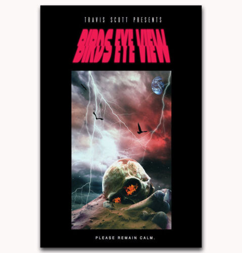 "24x36/"" 27/"" P-751 Art Travis Scott Birds Eye View Tour Rap Music Poster"