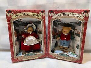"""The O'Bear FAMILY Porcelain Teddy Bear Figures 4"""" NEW 1997 (Lot of 2)"""
