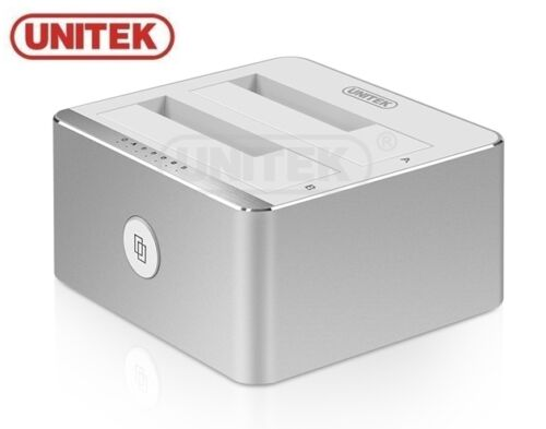 New-Unitek-Y-3026-USB-3-0-to-SATA-Dual-Docking-Station-Offline-Clone-Function