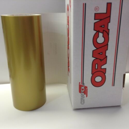 Oracal 651, 1 Roll 12 x 10 ft.Gold #091 Vinyl for Craft,Sign,Cutter