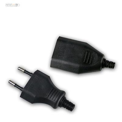 Set Eurostecker//-kupplung 2,5A 250VAC schwarz