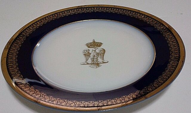 NAPOLEON BONAPARTE CORONATION PLATE USED BY IMPERIAL ROYAL FAMILY SIGNED C 1804