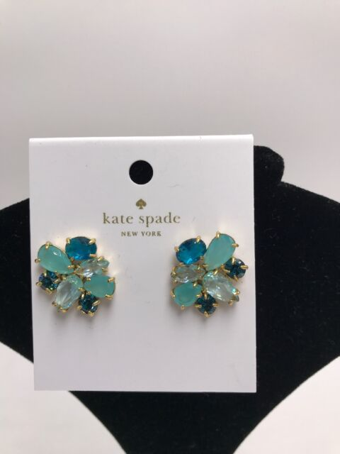 322158be806a5 Kate Spade Cluster Studs Earrings Turquoise Multi W Dust Bag for ...