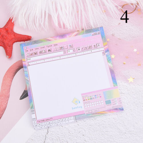 Creative Computer Game Shape Memo Pad Diy Diary Sticky Notes Office Supplies JDU