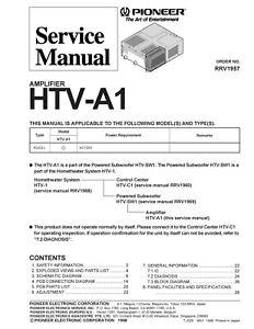 Pioneer htv-c1 htc-sw1 sm service manual download, schematics.