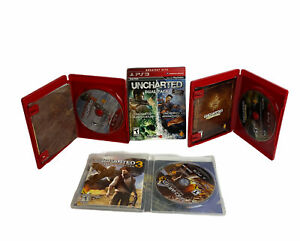Uncharted 1 2 & 3 Trilogy Bundle Lot Sony PlayStation 3 PS3 Games Complete