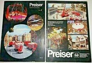 2-X-Preiser-Miniatura-Figura-y-modelo-1987-catalogos-HO-OO-1-87-1-25