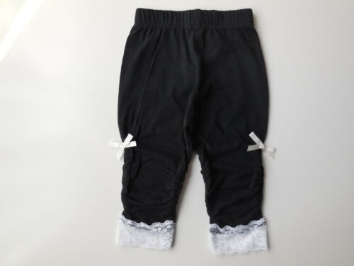NEW Mothercare baby girl black leggings w lace size 0000 Newborn 4.5kg